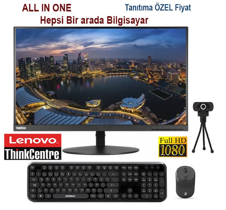 Lenovo Thinkcentre İntel İ5 4.Nesil 4 Ram 120 SSD 21,5 Full HD All ın One Bilgisayar