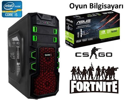 İntel İ5 3.20GHz, 8GB Ram, Asus GT1030, 500GB HDD, Gaming Bilgisayar