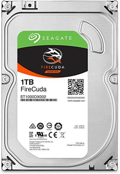 Seagate FIRECUDA 3.5 1TB 7200RPM +8GB SSD Gaming Disk ST1000DX002-Recertified