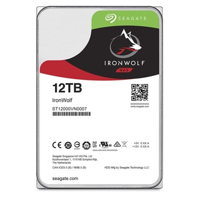 Seagate IRONWOLF 3,512TB 256MB 7200 ST12000VN0007